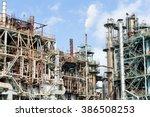 industrial factory complex | Shutterstock . vector #386508253