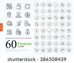 set ot finance icons for web or ... | Shutterstock .eps vector #386508439