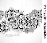 overlapping flower mandala...   Shutterstock .eps vector #386512168