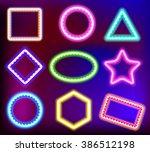 neon framework for text. neon...   Shutterstock .eps vector #386512198
