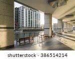 modern impressive canary wharf... | Shutterstock . vector #386514214