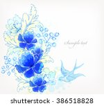 fantasy watercolor vector...   Shutterstock .eps vector #386518828