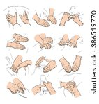 set with image of massage.... | Shutterstock .eps vector #386519770