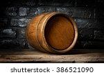 Brick Wall And Barrel