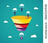 sales funnel vector concept in... | Shutterstock .eps vector #386524948