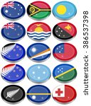 set of icons. flags of... | Shutterstock .eps vector #386537398