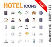 hotel service. icon set for web ...   Shutterstock .eps vector #386544856