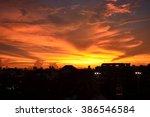sunset for background | Shutterstock . vector #386546584