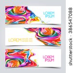 set of modern design banner... | Shutterstock .eps vector #386547088