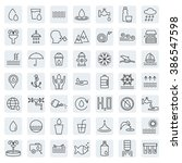 water icon set in thin line... | Shutterstock .eps vector #386547598