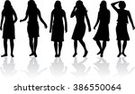 silhouette of a woman. | Shutterstock .eps vector #386550064