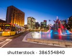 three rivers fountain with... | Shutterstock . vector #386554840