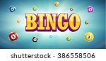 illustration of bingo lottery... | Shutterstock .eps vector #386558506