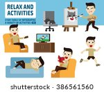 Leisure Activities. Infographi...