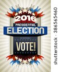 year 2016 presidential election ... | Shutterstock .eps vector #386565460