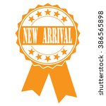 new arrival icon on white ... | Shutterstock .eps vector #386565898
