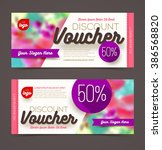 discount voucher template  ... | Shutterstock .eps vector #386568820