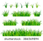 green grass set vector | Shutterstock .eps vector #386569894