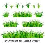 green grass set vector | Shutterstock .eps vector #386569894