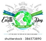 earth day holiday flyer. modern ... | Shutterstock .eps vector #386573890