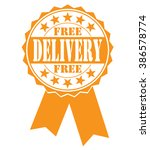 free delivery icon on white ... | Shutterstock .eps vector #386578774