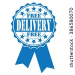free delivery icon on white ... | Shutterstock .eps vector #386580070