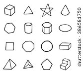 geometric form objects or icons ... | Shutterstock .eps vector #386581750