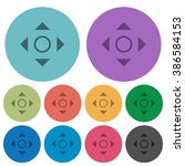 color scroll flat icon set on...