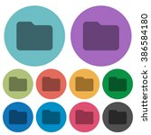 color folder flat icon set on...