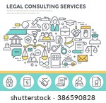 legal consulting services... | Shutterstock .eps vector #386590828