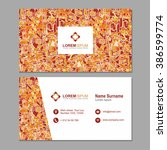 visiting card  business card... | Shutterstock .eps vector #386599774