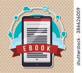 ebook icon design  | Shutterstock .eps vector #386626009