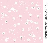 pattern seamless with flowers | Shutterstock .eps vector #386628214