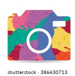 camera drawn painted icon vector | Shutterstock .eps vector #386630713