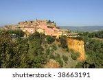 Provencal village of Roussillon - stock photo