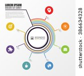 infographic report concept.... | Shutterstock .eps vector #386634328