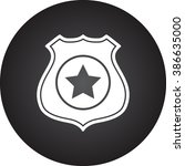 police office badge simple icon ... | Shutterstock .eps vector #386635000