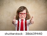 confident child businessman... | Shutterstock . vector #386639440