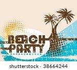 vector beach party