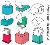 vector set of tissue paper | Shutterstock .eps vector #386642620