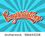 congratulations lettering text | Shutterstock .eps vector #386643238