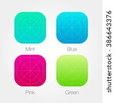 app icon template set with...