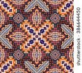 vector seamless  pattern ... | Shutterstock .eps vector #386644450