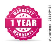 one year warranty icon isolated ... | Shutterstock .eps vector #386649484