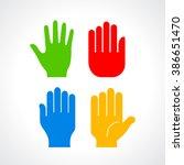 human hand palm silhouette ...
