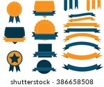 classical ribbons and shield... | Shutterstock .eps vector #386658508