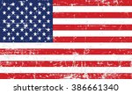 united states flag vector.... | Shutterstock .eps vector #386661340