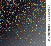 colored vector confetti. many...   Shutterstock .eps vector #386664574