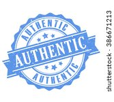 authentic rubber stamp  vector... | Shutterstock .eps vector #386671213