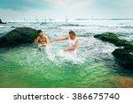 honeymoon in the tropic country | Shutterstock . vector #386675740